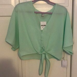 Teal Forever 21 top